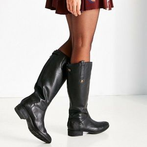 Sam Edelman Penny Black Leather Knee High Boots